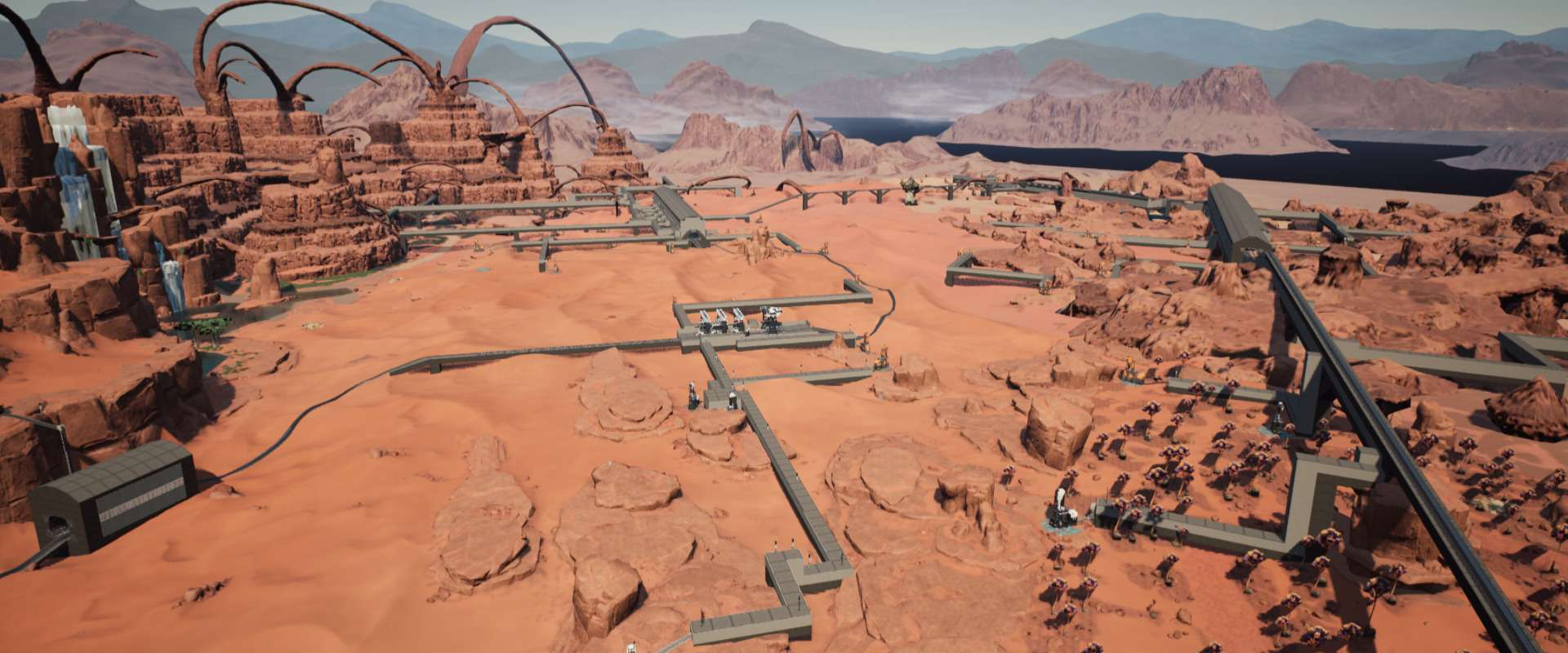 Take all the desert (except certains impures mines) by trains