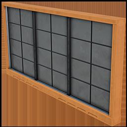 Fenêtre à carreaux
